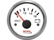 Mors Voltmetre 12V / Beyaz