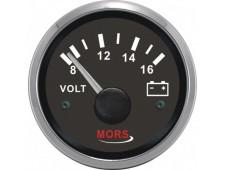 Mors Voltmetre 12V / Siyah