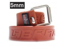 Labrax Marsilya Tokalı Kauçuk Kemer 5mm / Kırmızı
