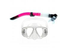 Amphibian Pro Hunter Maske Şnorkel Seti / Pembe