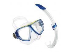 Aqua Lung Oyster XL Maske Şnorkel Seti / Mavi-Şeffaf