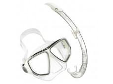 Aqua Lung Oyster XL Maske Şnorkel Seti / Beyaz-Şeffaf