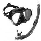 Cressi Matrix Maske Şnorkel Seti / Siyah