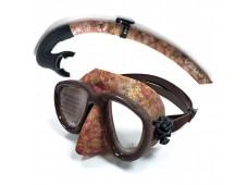 Apnea X-Low Maske Şnorkel Seti / Kahve