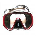 Aruba Big Boss (Geniş) Dalış Maskesi / Kırmızı