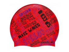 Speedo Junior Slogan Print Bone / Waves