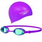 Speedo Jet Junior Swim Set Gözlük / Mor