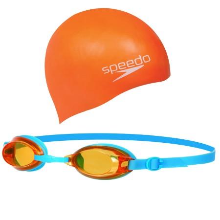 Speedo Jet Junior Swim Set Gözlük / Turuncu