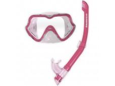 OceanPro Ningaloo Maske Şnorkel Seti (Pembe)