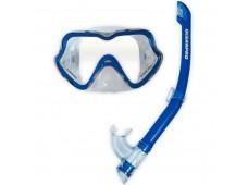 OceanPro Ningaloo Maske Şnorkel Seti (Mavi)